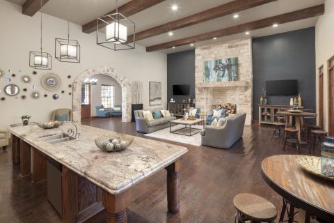 Second Clubhouse at Camden Riverwalk Apartments in Grapevine, TX
