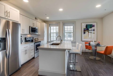 Kitchen in 2 Bedroom Apartment at Camden Roosevelt Apartments in Washington, DC