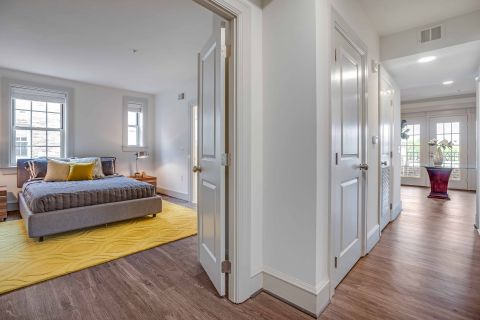 Guest Bedroom and hallway in 2 Bedroom Apartment at Camden Roosevelt Apartments in Washington, DC
