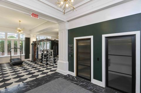 Camden Roosevelt Apartments Fitness Center with Steam Room and Sauna in Washington, DC