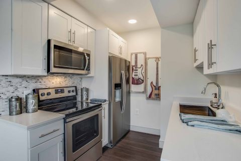 Studio Apartment Kitchen at Camden Roosevelt Apartments in Washington, DC