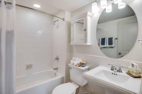 Studio Apartment Bathroom at Camden Roosevelt Apartments in Washington, DC