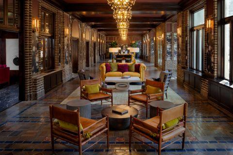 Lobby at Camden Roosevelt Apartments in Washington, DC metro near DuPont Circle