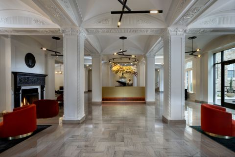 Lobby at Camden Roosevelt Apartments in Washington, DC metro near DuPont Circle