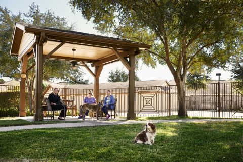 Dog Park with Pergola at Camden Royal Oaks Apartments in Houston, TX
