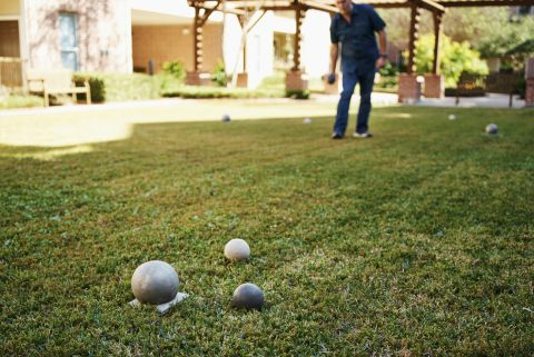 Bocce Ball with Outdoor Seating at Camden Royal Oaks Apartments in Houston, TX
