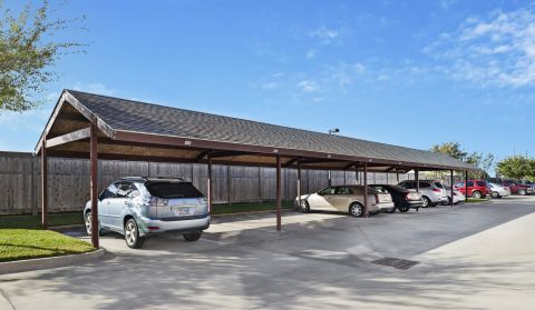Garages, Carports, and Storage Units at Camden Royal Oaks Apartments in Houston, TX