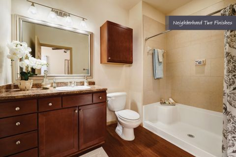 Bathroom with Walk-In Shower at Camden Royal Oaks Apartments in Houston, TX