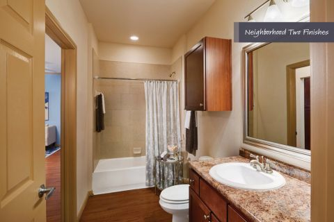 Bathroom with Garden Tub at Camden Royal Oaks Apartments in Houston, TX