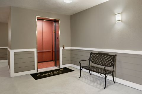 Elevator Entrance at Camden Royal Oaks Apartments in Houston, TX
