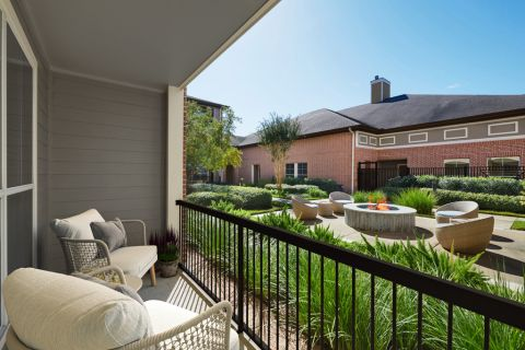 Patio at Camden Royal Oaks Apartments in Houston, TX