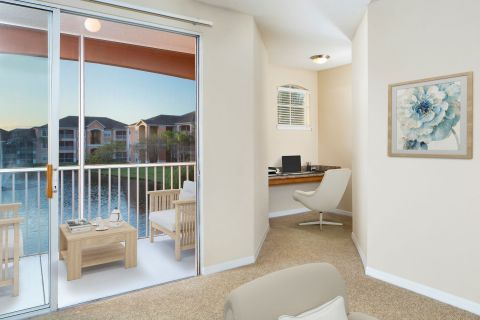 Balcony and Home Office at Camden Royal Palms Apartments in Brandon, FL