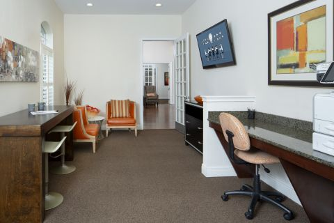 Community Workspace at Camden Royal Palms Apartments in Brandon, FL