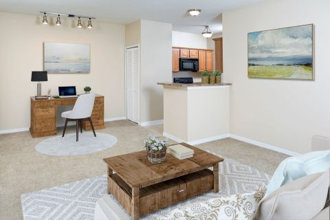 Home Office at Camden Royal Palms Apartments in Brandon, FL