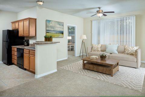 Living Room at Camden Royal Palms Apartments in Brandon, FL