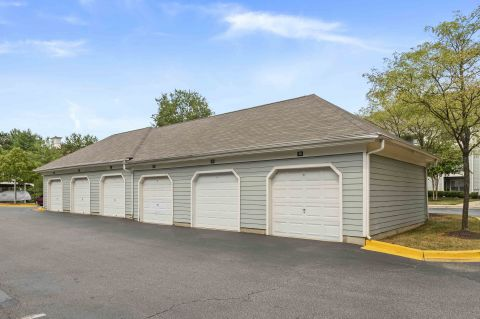 Garages at Camden Russet Apartments in Laurel, PG County Maryland