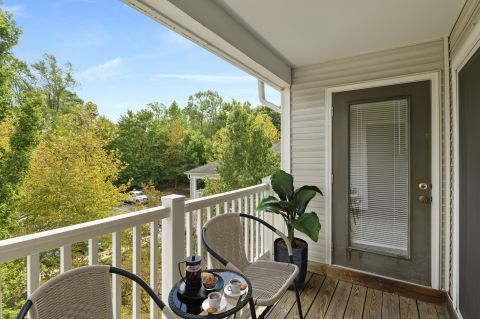 Balcony at Camden Russet Apartments in Laurel, PG County Maryland