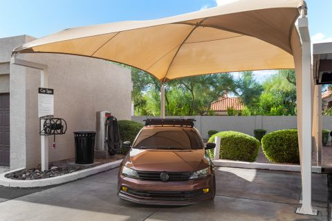 Covered Car Care Center at Camden San Marcos Apartments in Scottsdale, AZ