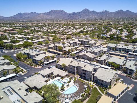 Mountain View from Camden San Marcos Apartments in Scottsdale, AZ