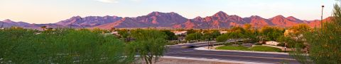Panoramic Mountain View from Camden San Marcos Apartments in Scottsdale, AZ