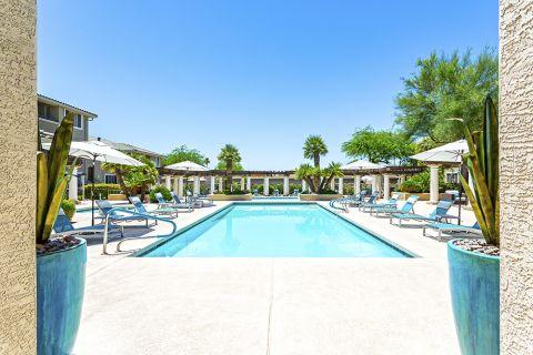 Lap pool at Camden San Marcos Apartments in Scottsdale, AZ