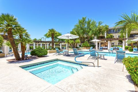 Hot tub at Camden San Marcos Apartments in Scottsdale, AZ