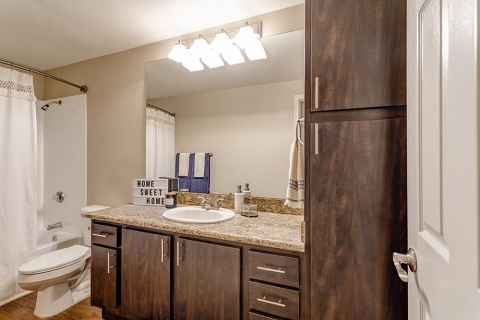 Bathroom at Camden San Marcos Apartments in Scottsdale, AZ