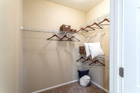 Walk-in closet at Camden San Marcos Apartments in Scottsdale, AZ