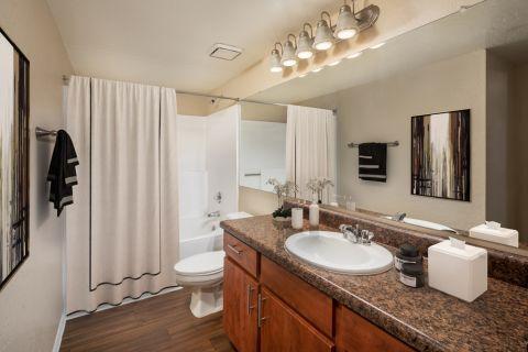 Bathroom at Camden San Paloma Apartments in Scottsdale, AZ