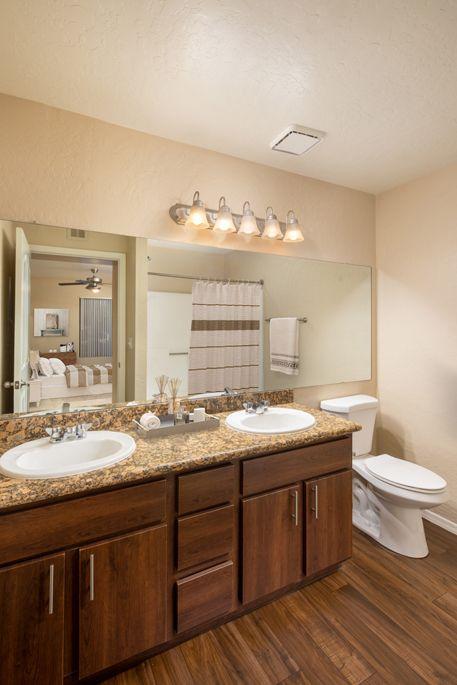 Double Vanity Bathroom at Camden San Paloma Apartments in Scottsdale, AZ