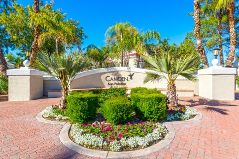 Exterior Entrance at Camden San Paloma Apartments in Scottsdale, AZ