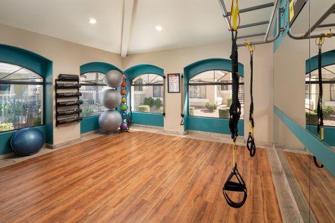 Yoga Room at Camden San Paloma Apartments in Scottsdale, AZ