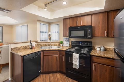 Kitchen at Camden San Paloma Apartments in Scottsdale, AZ