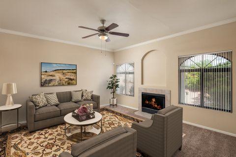 Living Room at Camden San Paloma Apartments in Scottsdale, AZ
