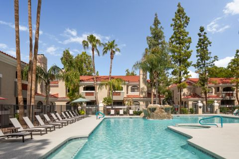 Resort-Style Swimming Pool at Camden San Paloma Apartments in Scottsdale, AZ