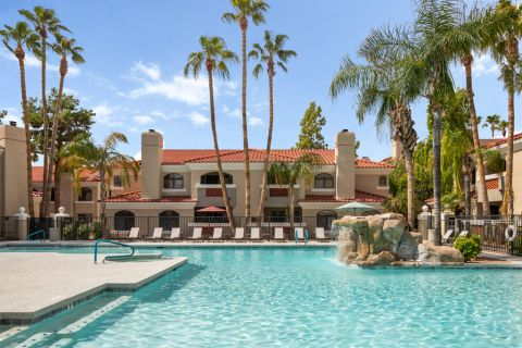 Swimming Pool at Camden San Paloma Apartments in Scottsdale, AZ