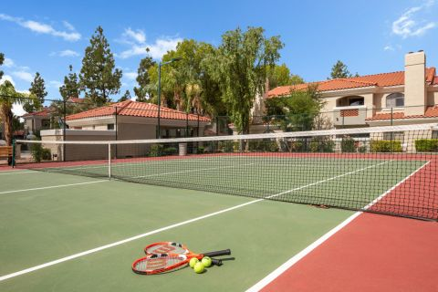 Tennis Court at Camden San Paloma Apartments in Scottsdale, AZ