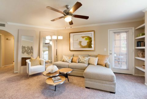 Living Room at Camden San Paloma Apartments in Scottsdale, AZ