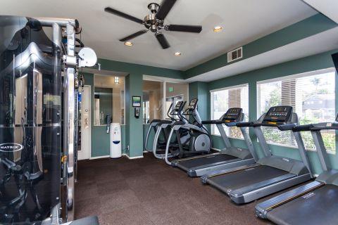 Fitness Center at Camden Sea Palms Apartments in Costa Mesa, CA
