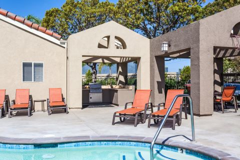 Outdoor Grill at Camden Sea Palms Apartments in Costa Mesa, CA