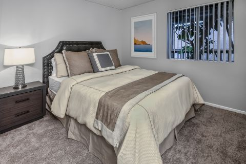 Large bedroom at Camden Sea Palms Apartments in Costa Mesa, CA