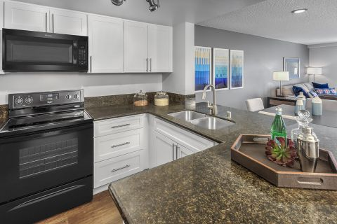 Open-Concept floorplan at Camden Sea Palms Apartments in Costa Mesa, CA