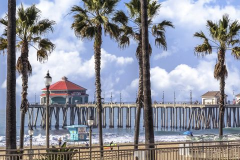 Huntington Beach Pier views at Camden Sea Palms Apartments in Costa Mesa, CA