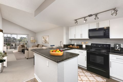 Spacious Kitchen at Camden Sea Palms Apartments in Costa Mesa, CA