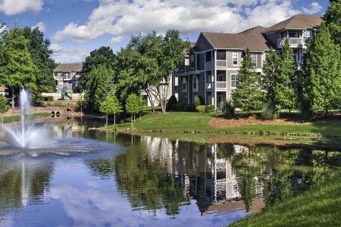 Pond at Camden Sedgebrook Apartments in Huntersville, NC