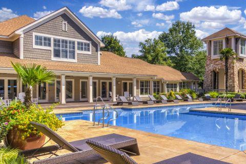 Pool at Camden Sedgebrook Apartments in Huntersville, NC