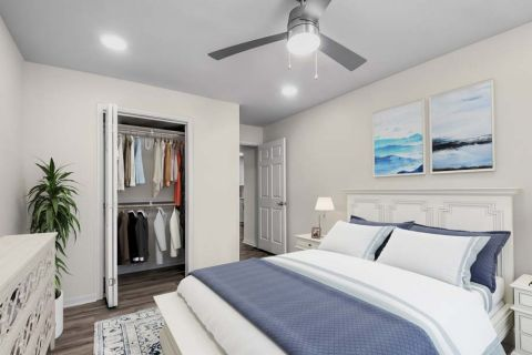 Renovated Bedroom at Camden Sedgebrook Apartments in Huntersville, NC