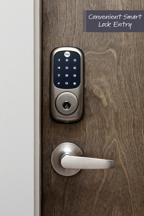Smart lock entry at Camden Sedgebrook Apartments in Huntersville, NC
