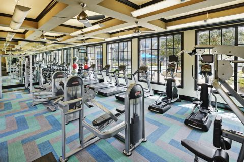 Fitness Center at Camden Shadow Brook apartments in Austin, TX