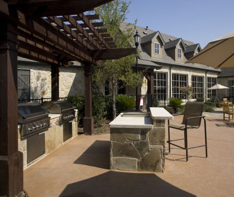 Outdoor grills at Camden Shadow Brook apartments in Austin, TX